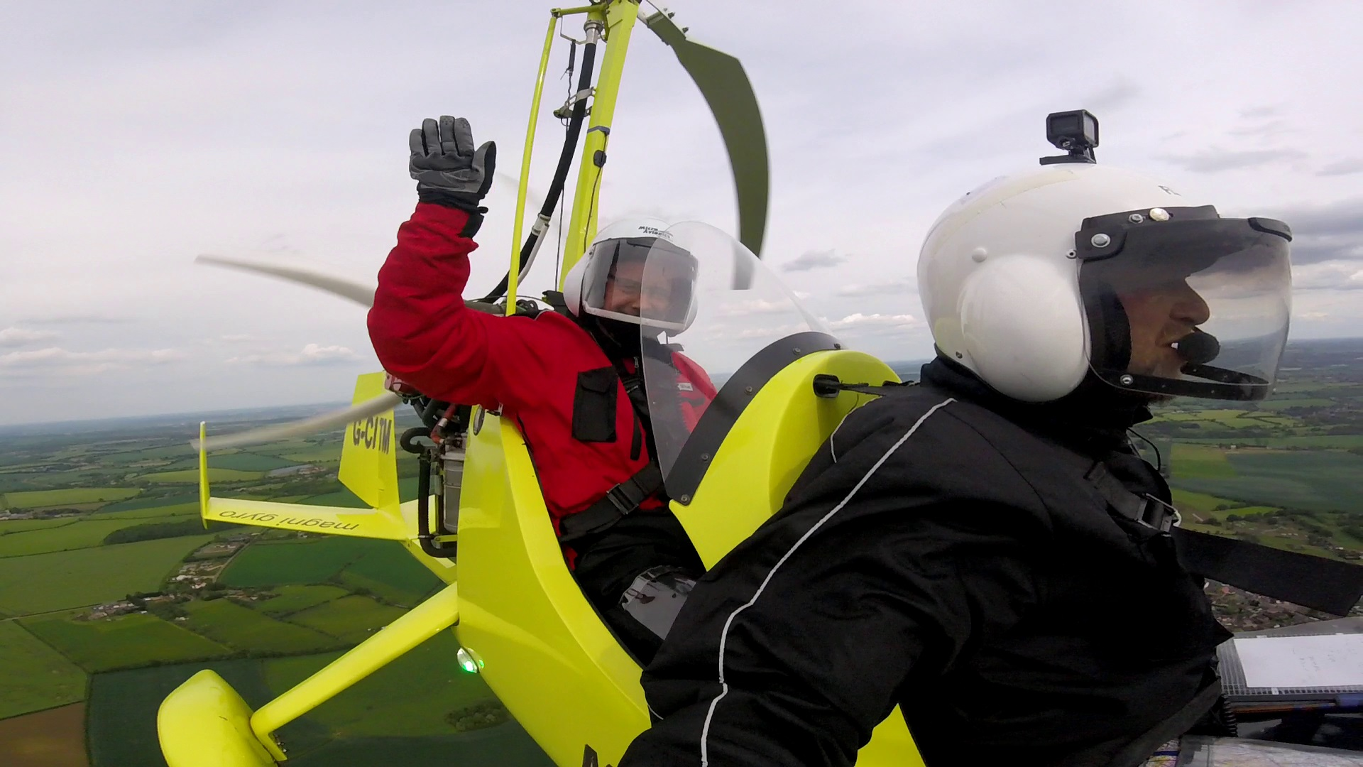 fun flying a Gyrocopter/Gyroplane